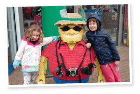 Kids enjoying a day out at LEGOLAND