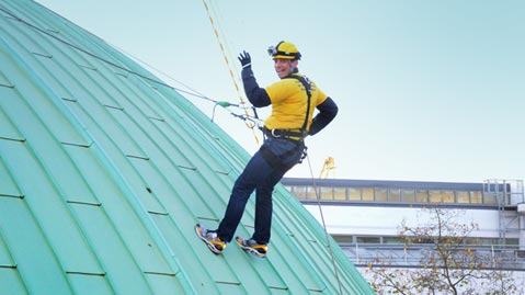 Abseiling down the dome at Madame Tussauds to raise money for Merlin's Magic Wand